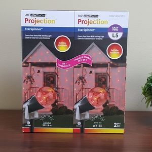 🌟SALE!🌟2-Pack LED Projection, Red/Yellow